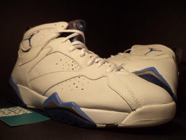 2002 7 Nike Air Jordan VII 7 2002 Retro WHITE FRENCHIE FRENCH BLUE FLINT GREY BLACK 10 ed09f0