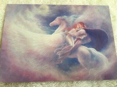 """""""fuga In Paradiso"""" In Bianco Biglietti D'auguri Pegasus Da 99p- Prima Qualità"""