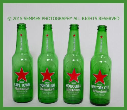 Honolulu Heineken Beer Bottles Cape Town Miami 12 oz Green Glass  Free Ship