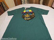 Volcom monkey ape sheet SS TEE Men's head hat sunglasses T shirt green small S