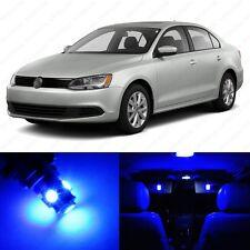 11 x Ultra Blue LED Interior Light Package For 2011 - 2013 VW Jetta MK6