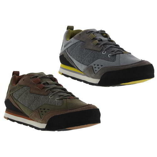 Merrell Burnt Trainer Rock Mens Grey Brown Leather Walking Trainer Burnt Size UK 8-11 6cfddf