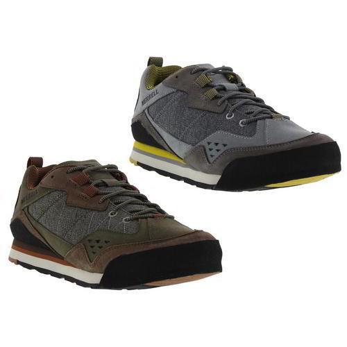 Merrell Burnt Rock Homme Gris en Cuir Marron Chaussures De Marche Baskets Taille UK 8-11