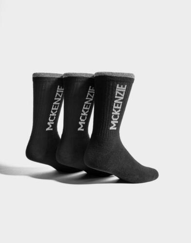 New McKenzie Junior's 3 Pack Sport Socks Black