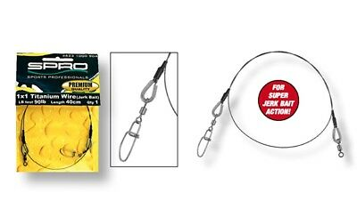 MAKO TITANIUM FISHING LEADERS 4.5lb//2kg — 2 per pack — Pike//Trout//Perch//Zander