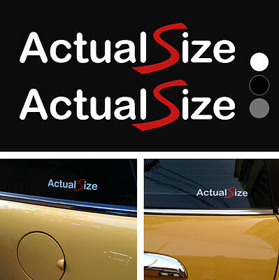 2x Actual Size  one JCW Works vinyl decal sticker 6""