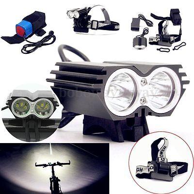 12000LM 2x T6 LED Bicicletta Frontale Lampada faro Bici torcia Per MTB Bike