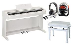 Yamaha-Arius-YDP-143WH-Bundle-mit-Bank-und-Kopfhoerer