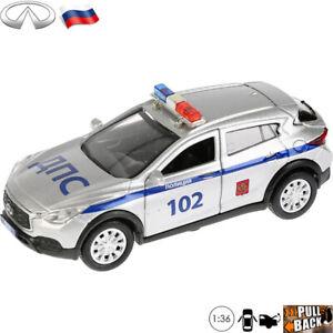 Diecast-Coche-Escala-1-36-Infiniti-QX30-crossover-pequeno-juguete-modelo-de-policia-rusa