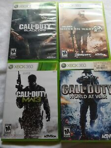Call-of-Duty-Lot-Xbox-360-Black-Ops-1-COD-Modern-Warfare-2-3-World-at-War-MW3