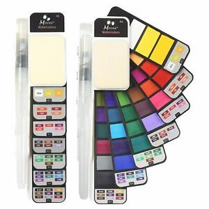 42-colors-watercolor-set-with-1-brush-for-field-sketch-outdoor-painting-foldable