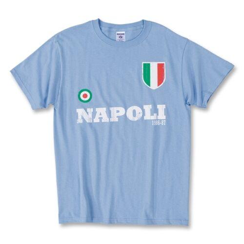 New Napoli Double 1986-87 Adult Soccer Calcio T-shirt Maradona Careca Alemao