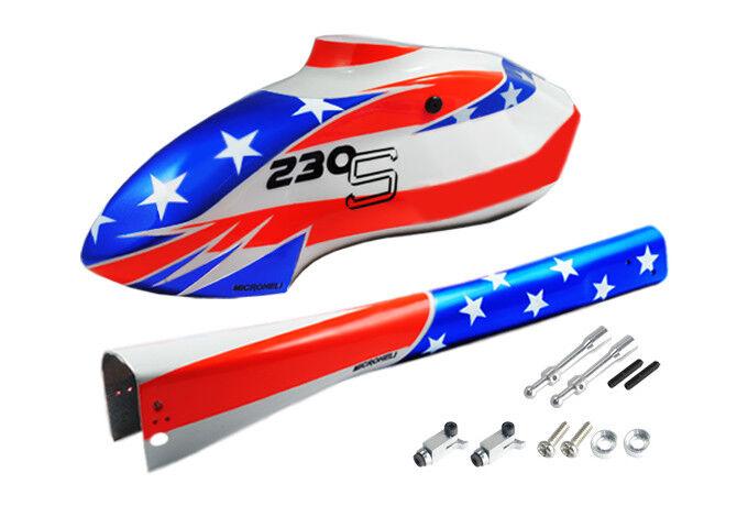 Microheli Airbrush Fiberglass USA Flag Fuselage - BLADE 230 S   230S V2