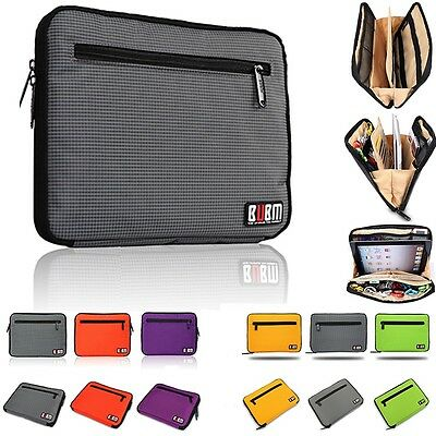 Tablet Case Sleeve Pouch USB Flash Drive Cable Organizer for iPad 2 3 4 air mini