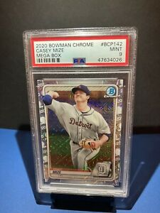 2020-Bowman-Chrome-Casey-Mize-BCP142-Mega-Box-Rookie-Card-PSA-9-MINT