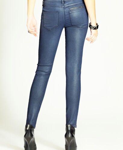 Foil 31 Jeans Guess Moto voor dames Sz Skinny Navy Zip in Fv1nva
