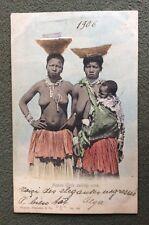 CPA. NATIVE GIRLS SELLING CORN. 1906. TRANSVAAL. Afrique du Sud. Femmes et Bébé