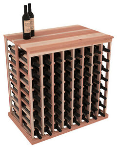 Details About Wooden Double Deep Tasting Table Wine Rack With Solid Top In Redwood Us Made