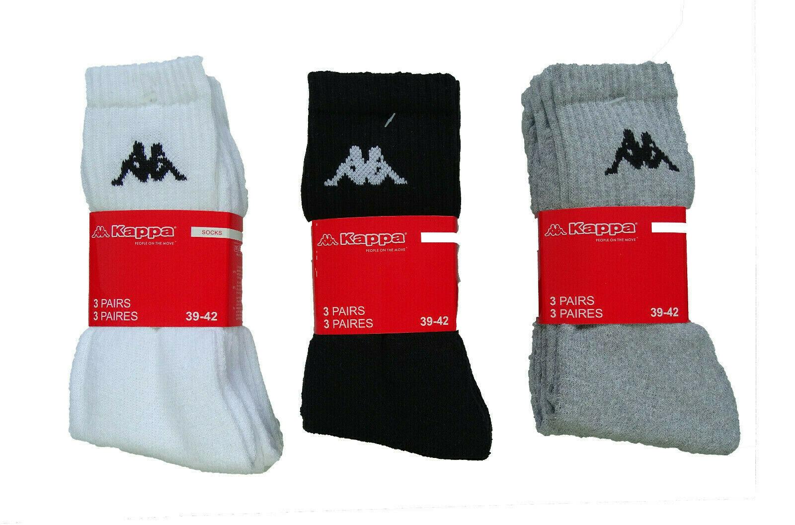 Kappa 9 bis 18 Paar Sportsocken Tennissocken Arbeitssocken Freizeitsocken Socken