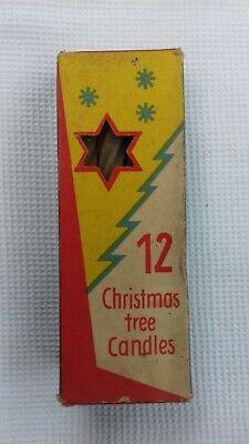 12 ANCIENNE BOITE DE BOUGIES DE NOEL //CHRISTMAS TREE CANDLES POUR SAPIN DE NOEL