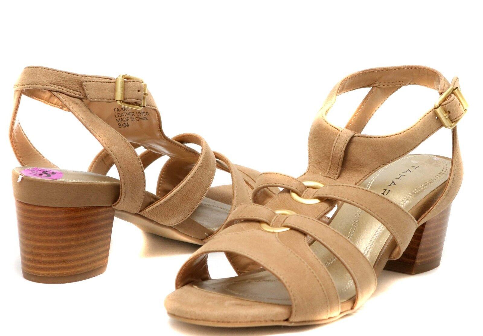 New Tahari  Ta-Kay  Sandal leather women's shoes size 8.5
