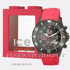 Authentic Ice Sili Chrono Black & Red Big Watch CH.BR.B.S.10