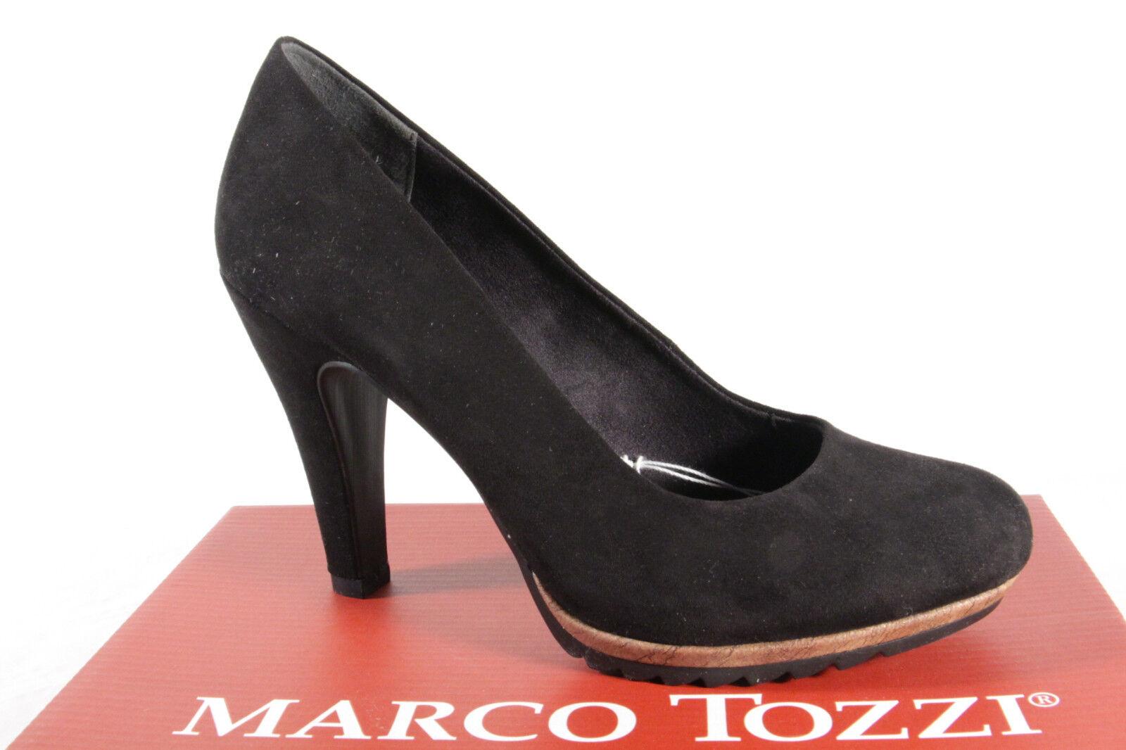 Marco Tozzi 22412 Décolleté Pantofola Mocassino Nero Sottopiede Morbido Nuovo | Di Alta Qualità  | Uomo/Donna Scarpa