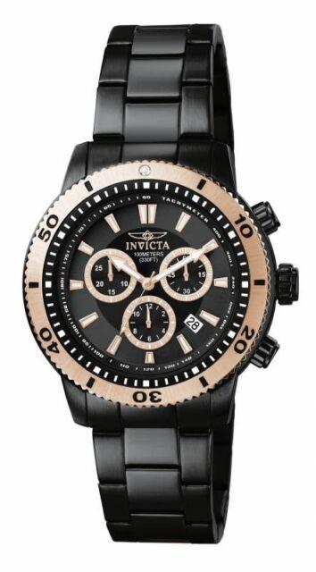 Invicta Men's 1206 Specialty Quartz Chronograph Black Dial Watch, UPC 8438360120