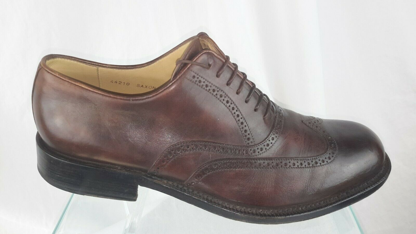 Bruno Magli  Saxon Oxfords  shoes Men 11.5 M Brown Leather Wingtip