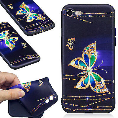 Ultra-thin Cute Embossed Patterned TPU Silicone Rubber Soft Back Lot Case Cover