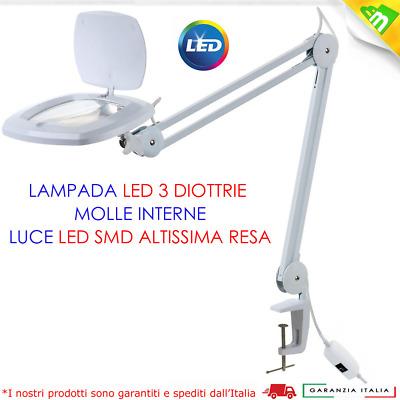 Lampada Per Laboratorio Con Neon E Lente 3 Diottrie A Led Ebay