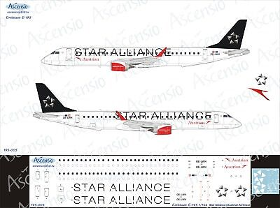 Embraer E-195 1//144 Star Alliance decal by Ascensio 195-005 Austrian Airlines