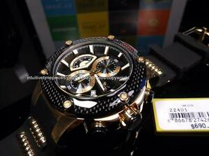 new invicta mens speedway viper gold ss black carbon fiber bezel new invicta mens speedway viper gold ss black