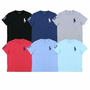Details about NEW Men Polo Ralph Lauren Crew Neck T Shirt BIG PONY STANDARD FIT
