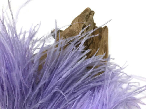 10 Yards Lavender Ostrich Fringe Trim Wholesale Feather Prom Costume Craft