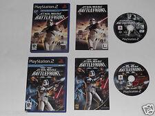 STAR WARS BATTLEFRONT & STAR WARS BATTLEFRONT 2 for PLAYSTATION 2 'HARD TO FIND'