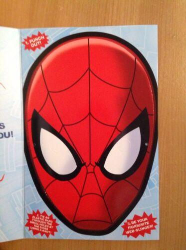 Fetes Occasions Speciales Clinton Marvel Spider Man Carte D Anniversaire Avec Masque A L Interieur Gratuite P P Maison Sedmakprodukt Hr