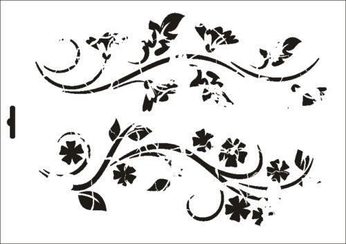 Mur textile gabarit w-358 vintage floral ~ a5 a4 a3 ~ umr-DESIGN