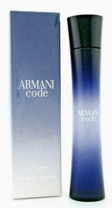 Armani Code by Giorgio Armani 2.5 oz. Eau de Parfum Spray for Women.New in Box