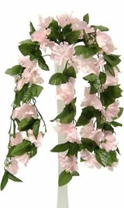 "26"" Hibiscus PINK Hanging Bush Silk Flowers Wedding Bouquets Centerpieces"