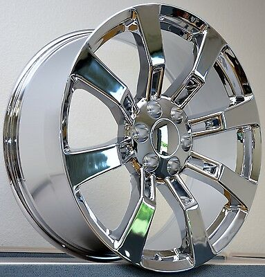 Cadillac Escalade 24 Inch Chrome Wheels rims & Tires fit 6 X 139.7 GMC Cadillac