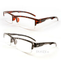 Rectangle Reading Glasses Semi Rimless Sophisticated Readers 100-250