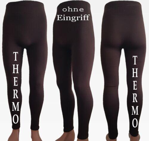 Braun Unterwäsche Lang Leggins 2er Pack Herren Thermo Fleece Unterhose Gr.S