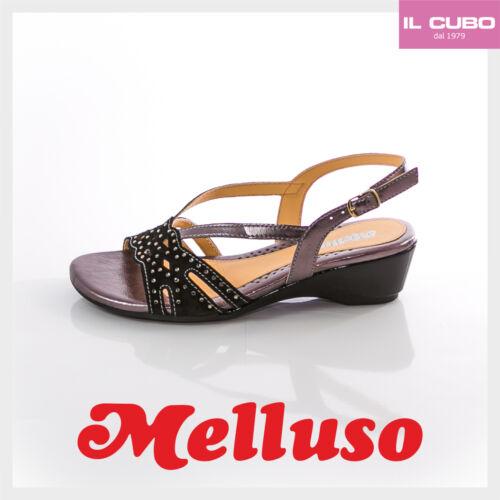 Cm Italy In 4 Donna Zeppa H Colore Sandalo Scarpa Melluso Nero Camoscio Made T7Rznq
