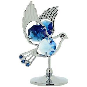 Neu Taube Kristall Geschenkset Sammelobjekt Ornament Crystocraft mit Swarovski C