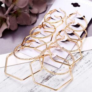 6Pairs-Vintage-Gold-Geometric-Big-Circle-Hoop-Earrings-Women-Steampunk-Ear-Clip