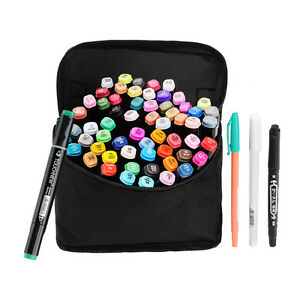 TOUCHNEW-Markers-Permanent-Color-Double-Head-Water-Based-Colored-Pen-Black-Body