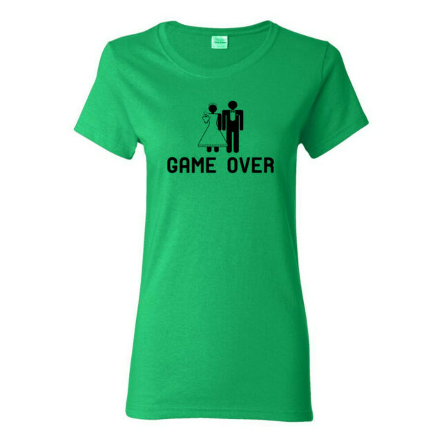 Game Over Funny Wedding Gift Marriage Womens Bachelorette T-Shirts