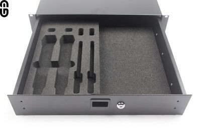 "Ordentlich 2he Shure Axt100/200 2er Set Inlay Für 19"" 2he Schublade; Foam Inlay Musikinstrumente Pro-audio Equipment"