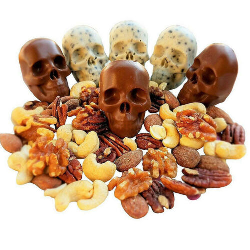 Skull Shape 3D Ice Cube Mold Maker Bar Party Silicone Trays Chocolate Mould